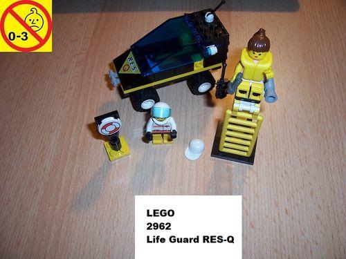 LEGO ® System / City Set 2962 - Life Guard - R.E.S. Q Rettungsschwimmer Auto + BA gebr.