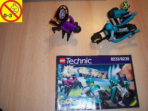 LEGO ® Technic Set 8233 / 8239 - CyberSlam  Competition MC vs. Stinger + BA gebr.