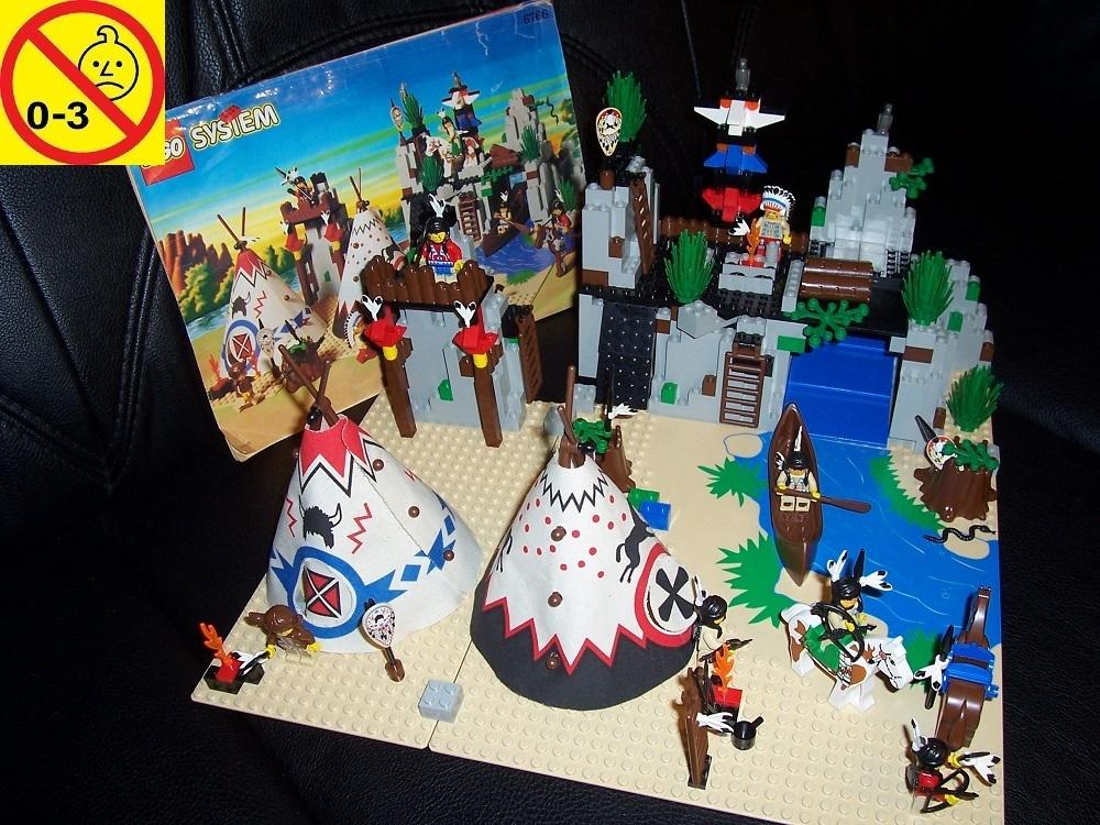 LEGO Bausteine & Bauzubehör Baukästen & Konstruktion Lego 6766 Western Indianer Rapid River Village