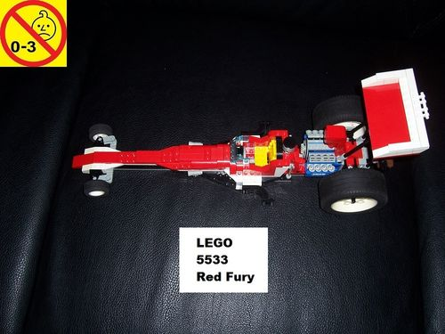 LEGO ® System / Technic / Model Team Set 5533 - Red Fury Dragster Rennauto gebr.