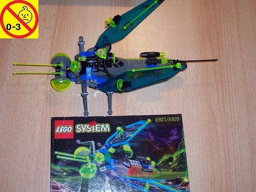 LEGO ® System / Space / Weltraum Set 6907 - Insectoids Sonic Stinger - Raumschiff + BA gebr.