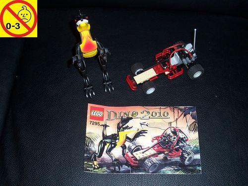 LEGO ® System / Adventurers Dino 2010 Set 7295 - Dino Buggy Chaser - Dino Jäger + BA gebr.