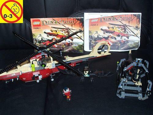LEGO ® System / Adventurers Dino 2010 Set 7298 - Dino Air Tracker Hubschrauber Heli + BA gebr.