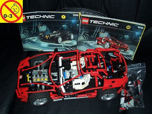 LEGO ® Technic Set 8448 - Super Street Sensation / Super Car Mk II Designe Car V8 + BA gebr.