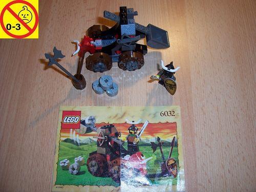 LEGO ® Castle / Knights Kingdom / Ritter Set 6032 - BullKnights Catapult Crusher Katapult + BA gebr.