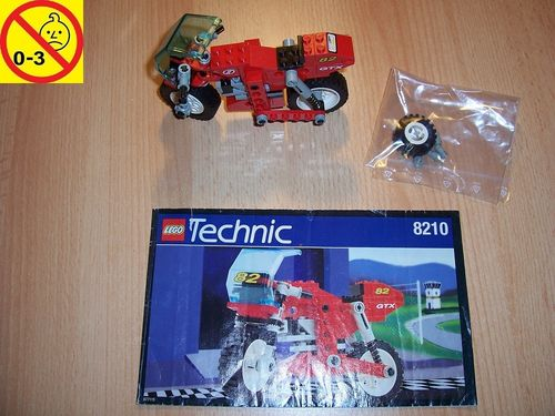 LEGO ® Technic Tech Play Set 8210 - Nitro Bike GTX 500 Motorrad rot Nr. 82 + BA gebr.