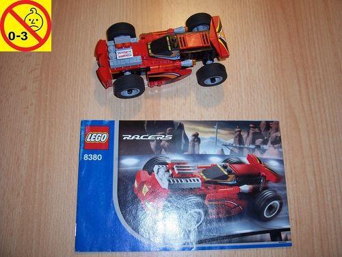 LEGO ® System / City / Racers Set 8380 - Red Maniac - Rennwagen Pull-Back-Motor Auto + BA gebr.