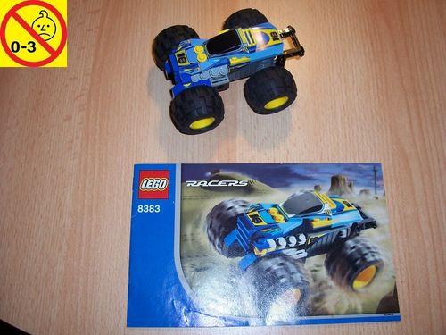 LEGO ® System / City / Racers Set 8383 - Nitro Terminator Rennwagen Pull-Back-Motor Auto + BA gebr.