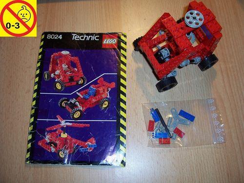 LEGO ® Technic Set 8024 - Universal Building Set Auto Hubschrauber + BA gelb-schwarz gebr.