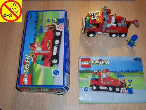 LEGO ® System / City Set 6670 - Rescue Rig - Auto Service + BA + OVP gebr.