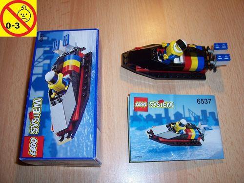 LEGO ® System / City Set 6537 - Hydro Racer Speedboot Schiff + BA + OVP gebr.