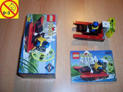LEGO ® System / City Set 6567 - Extreme Team Speed Splasher - Speedboot Schiff + BA + OVP gebr.