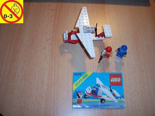 LEGO ® System / City Set 6529 - Flight Ultra Light I - Flugzeug + BA gebr.
