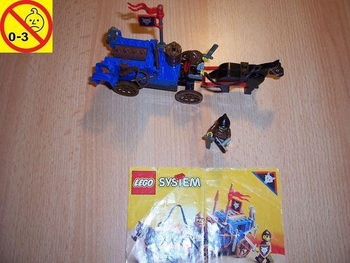 LEGO ® Castle / Knights Kingdom / Ritter Set 6038 - Wolfpack Renegades Wolfsbande Kutsche + BA gebr.