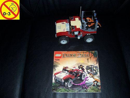 LEGO ® System / Adventurers Dino 2010 Set 7296 - Dino 4WD Trapper - Dino Jäger Jeep + BA gebr.
