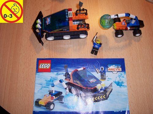 LEGO ® System / Adventurers Arctic Set 6573 - Arctic Expedition + Forschung 1x Figur + BA gebr.