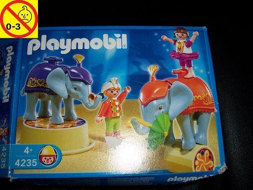 Playmobil Set 4235 Circus / Zirkus - Babyelefanten-Show + Bauanleitung + OVP gebr.