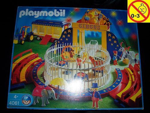 Playmobil Set 4061 Circus / Zirkus - Manage + Raubtierdressur + Traktor + Anhänger + BA + OVP gebr.