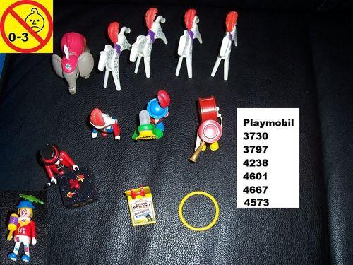 Playmobil Einzelteile aus 3730 3793 4238 4573 4601 4667 Circus / Zirkus Romani Clown Pferde gebr.