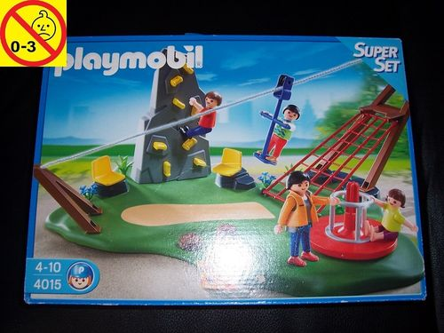 Playmobil Set 4015 SuperSet - Aktiv-Spielplatz + Bauanleitung + OVP gebr.