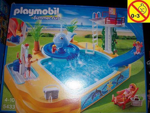 Playmobil Set 5433 Summer Fun / Urlaub Erlebnisbad mit Sprudel-Wal + Bauanleitung + OVP gebr.