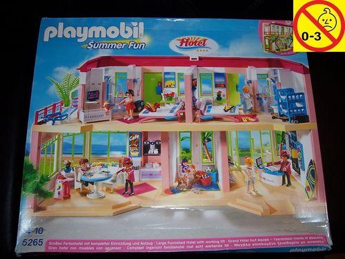Playmobil Set 5265 Summer Fun / Urlaub Großes Ferienhotel mit Einrichtung + Bauanleitung + OVP gebr.