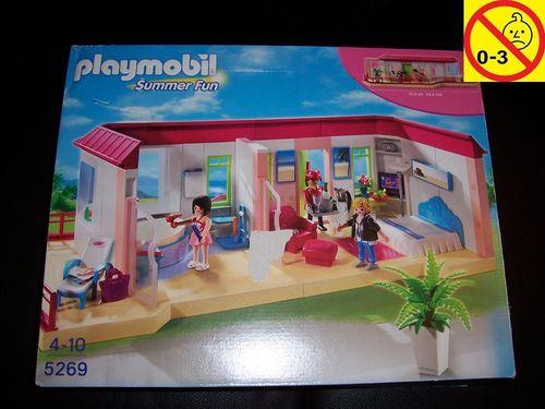 Playmobil Set 5269 Summer Fun / Urlaub Bungalow Suite Penthouse 3. Etage Ferienhotel + BA  OVP gebr.