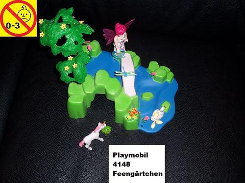 Playmobil Set 4148 Fairies / Feen KompaktSet Feengärtchen mit Einhorn gebr.