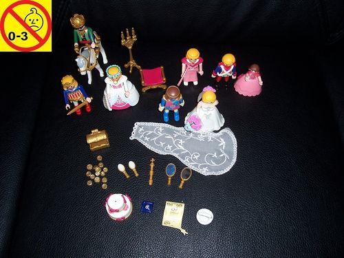 Playmobil Einzelteile Set Königliche Hochzeit König Königin Prinz Prinzessin 8x Figur Männchen gebr.