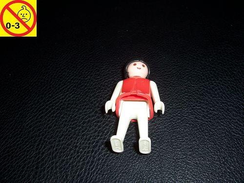 Playmobil Einzelteile Figur Männchen schwangere Frau rot weiß 1974 gebr.