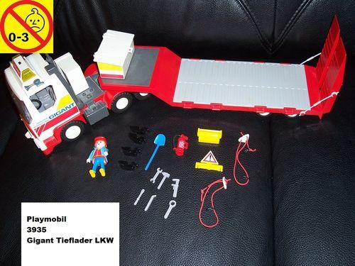Playmobil Set 3935 City / Life - Gigant Tieflader Truck LKW + ohne Bauanleitung gebr.