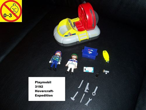 Playmobil Set 3192 City / Life - Hovercraft-Expedition ohne Bauanleitung gebr.