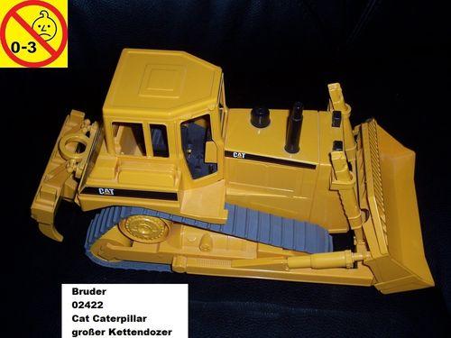 Bruder 02422 Baufahrzeuge Cat Caterpillar großer Kettendozer Dozer Bulldozer Planierraupe 1:16 gebr.