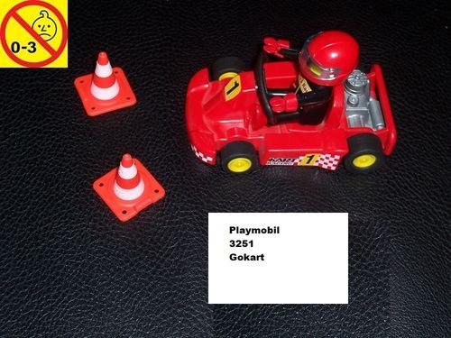 Playmobil Set 3251 City / Life - Kart Gokart  ohne Bauanleitung gebr.
