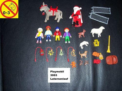 Playmobil Set 3993 Weihnachten - Inhalt aus dem Adventskallender Laternenzug ohne Bauanleitung gebr.