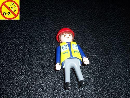 Playmobil Einzelteile 4474 City / Life - Lagerarbeiter Hafenarbeiter Conlines Figur Männchen gebr.