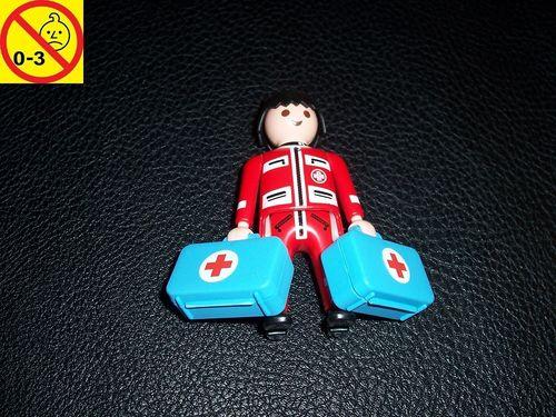 Playmobil Einzelteile 4224 City / Life -  Notarzt Ambulance mit 2x Koffer Figur Männchen gebr.