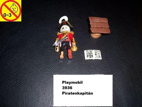 Playmobil Einzelteile 3936 Pirates / Pirat -  Piratenkapitän Kapitän Figur Männchen gebr.