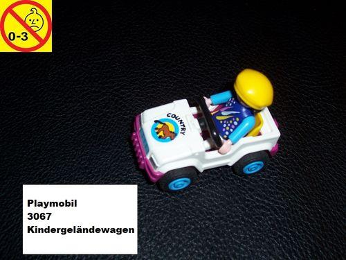 Playmobil Set 3067 City / Life - Kindergeländewagen mit Mädchen ohne Bauanleitung gebr.