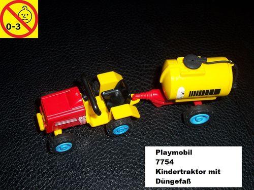 Playmobil Set 7754 City / Life - Kindertraktor mit Düngefaß Traktor ohne Bauanleitung gebr.