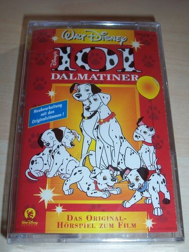 Walt Disney Hörspiel MC zum Film 101 Dalmatiner  1997 Walt Disney Records rot NEU & OVP