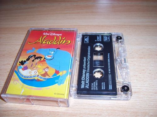 Walt Disney Hörspiel MC zum Film Aladdin OST Original Soundtrack de 1993 Polydor Club Exklusiv gebr.
