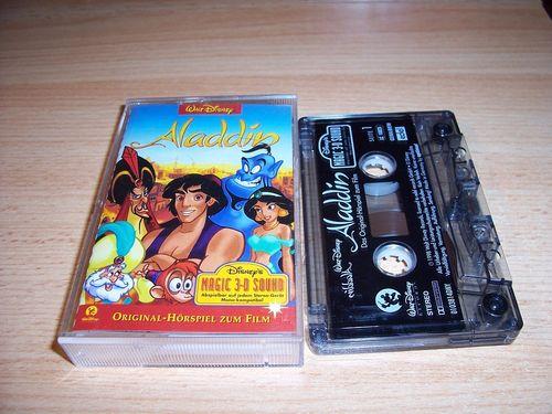 Walt Disney Hörspiel MC zum Film Aladdin 1  1998 Walt Disney Records edel rot gebr.