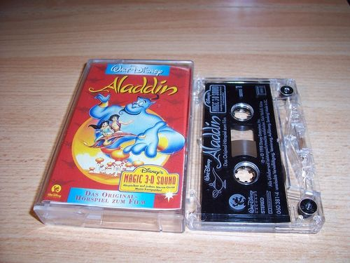 Walt Disney Hörspiel MC zum Film Aladdin  1998 Walt Disney Records rot gebr.