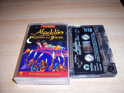 Walt Disney Hörspiel MC zum Film Aladdin 2 - und der König der Diebe  Walt Disney Records rot gebr.