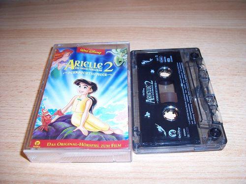 Walt Disney Hörspiel MC zum Film Arielle - Die Meerjungfrau 2  2002 Walt Disney Records rot gebr.