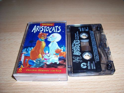 Walt Disney Hörspiel MC zum Film Aristocats  1997 Walt Disney Records edel rot gebr.