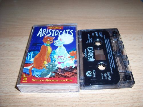 Walt Disney Hörspiel MC zum Film Aristocats  2002 Walt Disney Records rot gebr.