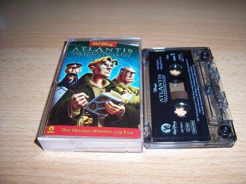 Walt Disney Hörspiel MC zum Film Atlantis das Geheimnis der verl Stadt Walt Disney Records rot gebr.