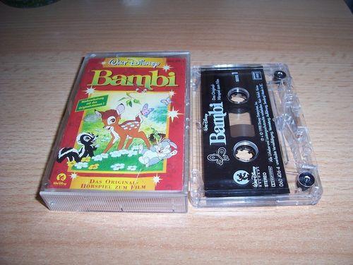 Walt Disney Hörspiel MC zum Film Bambi  1998 Walt Disney Records rot gebr.
